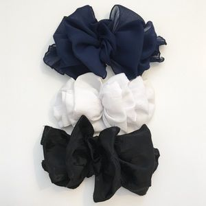 Vintage 90s Large Hair Bow Barrette Clip Bundle
